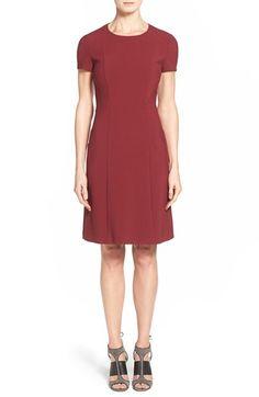 BOSS 'Dipela' Short Sleeve Ponte Sheath Dress available at #Nordstrom