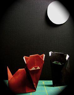 origami cats ohhhhh goodness!