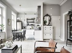 Grey apartment in Sweden | Hermoso departamento en grises | casahaus.net