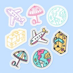 Millions of Free Graphic Resources. ✓ Vectors ✓ Stock Photos ✓ PSD ✓ Icons ✓ All that you need for your Creative Projects Cartoon Stickers, Funny Stickers, Printable Stickers, Bullet Journal Lines, Bullet Journal School, Suitcase Stickers, Cute Laptop Stickers, Journal Stickers, Scrapbook Stickers