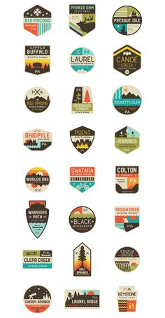 Love these patches and state parks. Designed by Caleb Heisey