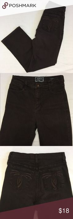 """Not Your Daughter's Dark Brown Jeans Not Your Daughter's Dark Brown Jeans in like new condition """"made for real women with real curves"""". Measurements: Pant width: 8 inches; Length: 37 inches; Waist: 15 inches Not Your Daughter's Jeans Jeans Flare & Wide Leg"""