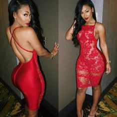 Open Back Red Lace Dresses 2018 // Red Bodycon Dress 2018 // Red party Dress 2018 / Red Sexy Dress Sexy Outfits, Sexy Dresses, Cute Outfits, Fashion Outfits, Tight Dresses, Dress Fashion, Fashion Killa, Look Fashion, Fashion Beauty