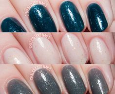 Contrary Polish Wintry Weather Collection via @chalkboardnails