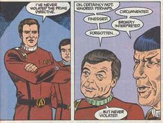 James Kirk has the full support of his best friends.