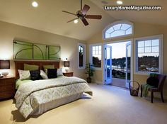 LHM Seattle - Meydenbauer View Estate #LuxuryHomes #Bedroom #Balcony