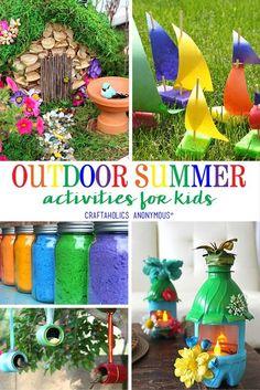 Summer outdoor crafts for kids kids crafts развивающие игры, Crafts To Do, Diy Crafts For Kids, Arts And Crafts, Craft Ideas, Kids Outdoor Crafts, Recycle Crafts, Craft Box, Kids Diy, Craft Kits