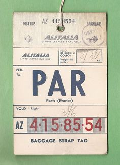 French travel tag