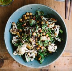 Roasted Cauliflower, Chickpea, and Quinoa Salad with Jalapeno-Lime Dressing from My Darling Lemon Thyme