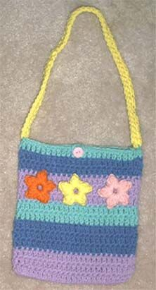 Fun Flower Purse By Marlo D. Cairns - Free Crochet Pattern - (marloscrochetcorner)