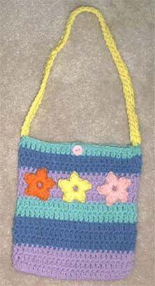 Fun Flower Purse By Marlo D. Cairns - Free Crochet Pattern - (marloscrochetcorner)