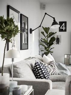 Une maison familiale en noir et blanc | PLANETE DECO a homes world | Bloglovin'