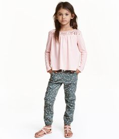 Girls floral joggers by H & M