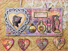 'Love' hanging made with MDF blanks CI papers and CI stamps