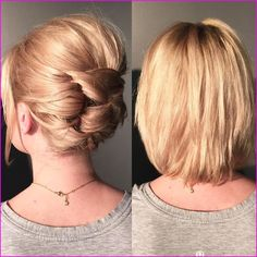 60 Creative Short Hair Updos 60 Creative Short Hair Updos, Have you ever struggled to learn some updos for short hair? With so many gorgeous updo ideas available online, the strong majority are for long hair…, Short Hairstyles Prom Hairstyles For Short Hair, Short Pixie Haircuts, Trending Hairstyles, Easy Hairstyles, Curly Haircuts, Gorgeous Hairstyles, Latest Hairstyles, Very Short Hair Updo, Short Hair Updo Tutorial