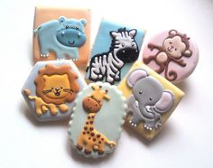 Baby Shower Jungle Animals by Custom Cookies by Jill, via Flickr