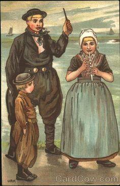 Girl Playing Flute Dutch Children