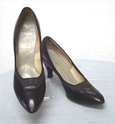 Blue Selby 50s Leather Shoes