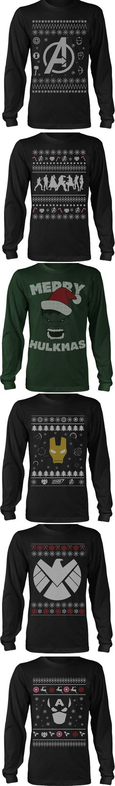 LIMITED EDITION Avengers Ugly Sweater designs.