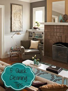 quick house cleaning tips