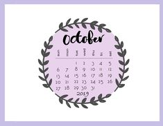 Get Floral October 2019 Calendar, Cute October Calendar 2019 Wallpaper, Desk Calendar, Wall Calendar, October Calendar 2019 Wallpaper for Desktop & Laptop. Wall Calendar Design, Calendar Layout, Cute Calendar, Calendar Time, 2019 Calendar, Calendar Ideas, Beautiful Background Designs, Printable Calendar Template, Free Printable