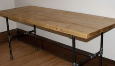 Harvest Table, Pipe & Board