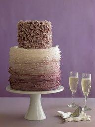 Ruffle #wedding cake in yummy brown tones http://www.finditforweddings.com