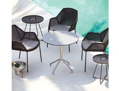 Black Breeze Outdoor Stackable Dining Chair by Strand & hvass For Cane-line