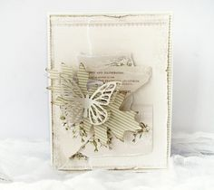 Crafting ideas from Sizzix UK: Butterfly card Minna Paajanen using the Buterfly from the Sizzix Big Shot Starter Kit