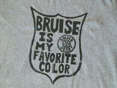 Roller Derby printed unisex tshirt size m by KurlzKreationz