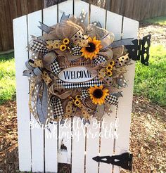 Welcome Wreath Spring Welcome Wreath Summer Welcome Wreath