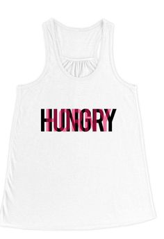 Hungry/Horny Typography Flowy Racerback Tank Top