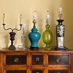 shadeless lamp bases - lamp shades