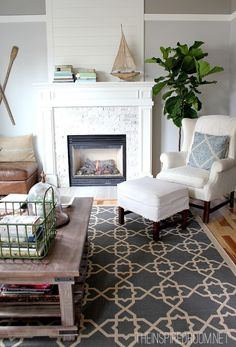 Living Room with Easy Care Rug