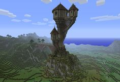 Minecraft is a procedurally-generated game of world exploration, resource harvesting, and freeform construction. Minecraft supports local and online multiplayer, and features are being added regularly. Amazing Minecraft, Minecraft Blueprints, Minecraft Designs, Cool Minecraft Houses, Minecraft Creations, How To Play Minecraft, Minecraft Buildings, Minecraft Stuff, Minecraft Treehouses