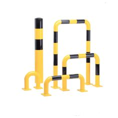 Model 201.14.228 Traffic Line - #Steel #Hoop #Guards Guards manufactured in high #quality 2mm guage #steel which is 48mm dia Ideal for the segregation and #protection of vunerable zones such as #walkways and #machinery Finishes: Yellow powder coat with black bands (interior use). Hot dip #galvanised and yellow #powder #coat with black bands (exterior use) See more at: http://shop.hsil.co.uk/p-4156-traffic-line-steel-hoop-guards.aspx#sthash.YYnapyoV.dpuf