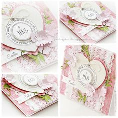 scrappassion: Kartka komunijna First Communion Cards, First Holy Communion, Christian Cards, Paper Crafts, Diy Crafts, Die Cut Cards, Youre Invited, Cute Cards, Vintage Cards