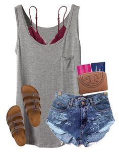 A fashion look from May 2016 featuring Madewell bras, Birkenstock sandals and Tory Burch wallets. Browse and shop related looks. Cute Summer Outfits, Cute Casual Outfits, Outfits For Teens, Spring Outfits, Camping Outfits For Women Summer, Girly Outfits, Stylish Outfits, Looks Style, My Style