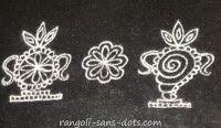 shank chakra kolam or rangoli design a simple type
