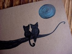 4 Owl and pussycat blank cards with envelopes by TheRusticHome, $12.00