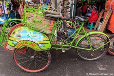 Fahrrad-Rikscha in #Yogyakarta