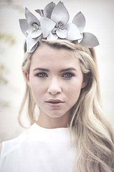 Collection of contemporary Bridal #Millinery from Maggie Mowbray #hatacademy