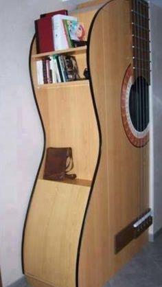 GUITAR BOOKSHELF Cool ! shelf custom shelf home improvement guitars guitarra  Martin Gibson Fender Takamine Washburn Gitar Guitarist Guitarrista