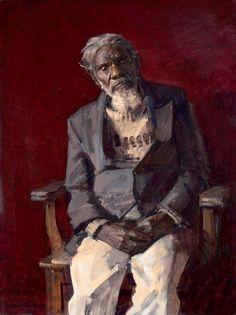 Robert Hannaford (1944 - ) | Jarinyanu-David-Downs-3x4-1995