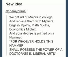PLEASE!!! I want a Mjolnir with a law degree on it