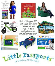 Top Gifts for Kids Gift Guide Giveaway - One winner will win EVERYTHING!! Today only!! Win Over $1000 worth of prizes including an American Girl doll and Strider Bicycle!! - It's A Fabulous Life