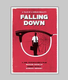 Alternative falling down poster michael douglas minimalist classic film poster…