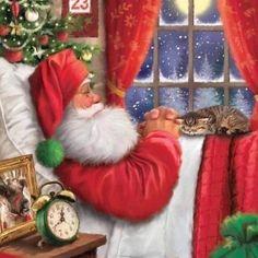 Disney Merry Christmas, Christmas Past, Christmas Wishes, Vintage Christmas, Christmas Cards, Christmas Ornaments, Christmas Ideas, Thomas Kinkade Christmas, Good Night Blessings