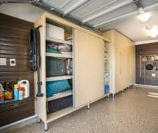 Great Closet Factory   Garage Cabinets With Bipass Doors