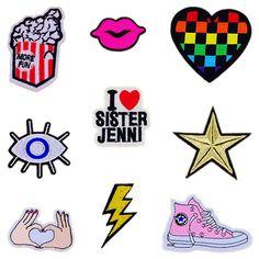 Patches Strepen op Kleding Geborduurde Cartoon Patch Gratis Verzending Parches Bordados Decoratie Kleding Stickers